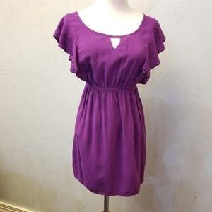Lush purple ruffle dress (N13)